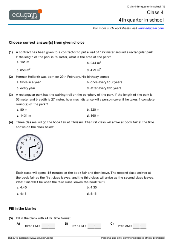 free maths worksheets for Tags free maths worksheets for class 4 – Free Maths Worksheets for Class 4