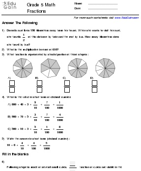 math worksheet : fractions worksheets for grade 5 cbse  worksheets : Maths Worksheet For Class 4